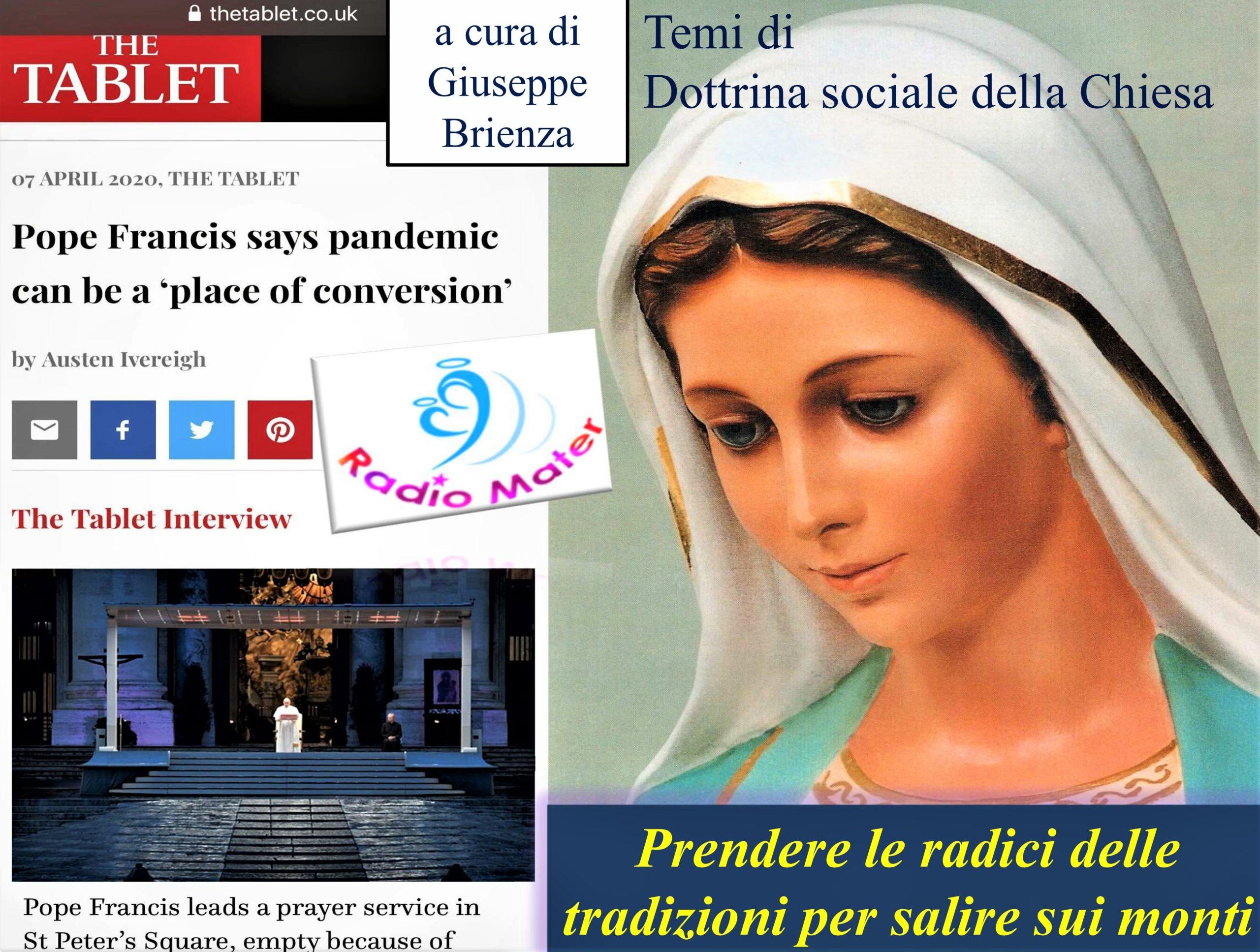 """Giuseppe Brienza (Radio Mater) sulla """"risposta cristiana alla crisi pandemica globale"""""""