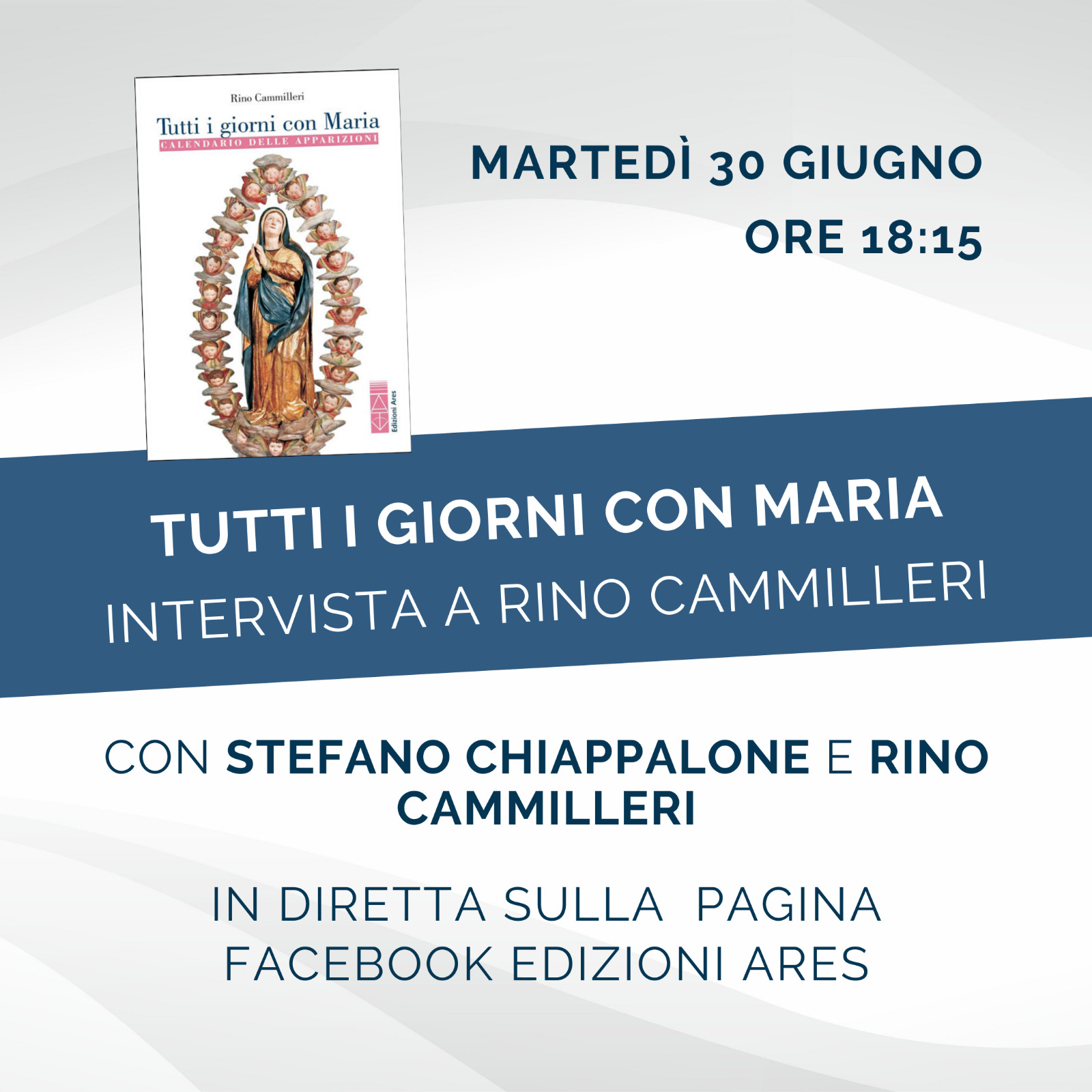 """Stasera presentazione online del libro """"Tutti giorni con Maria"""" di Rino Cammilleri"""
