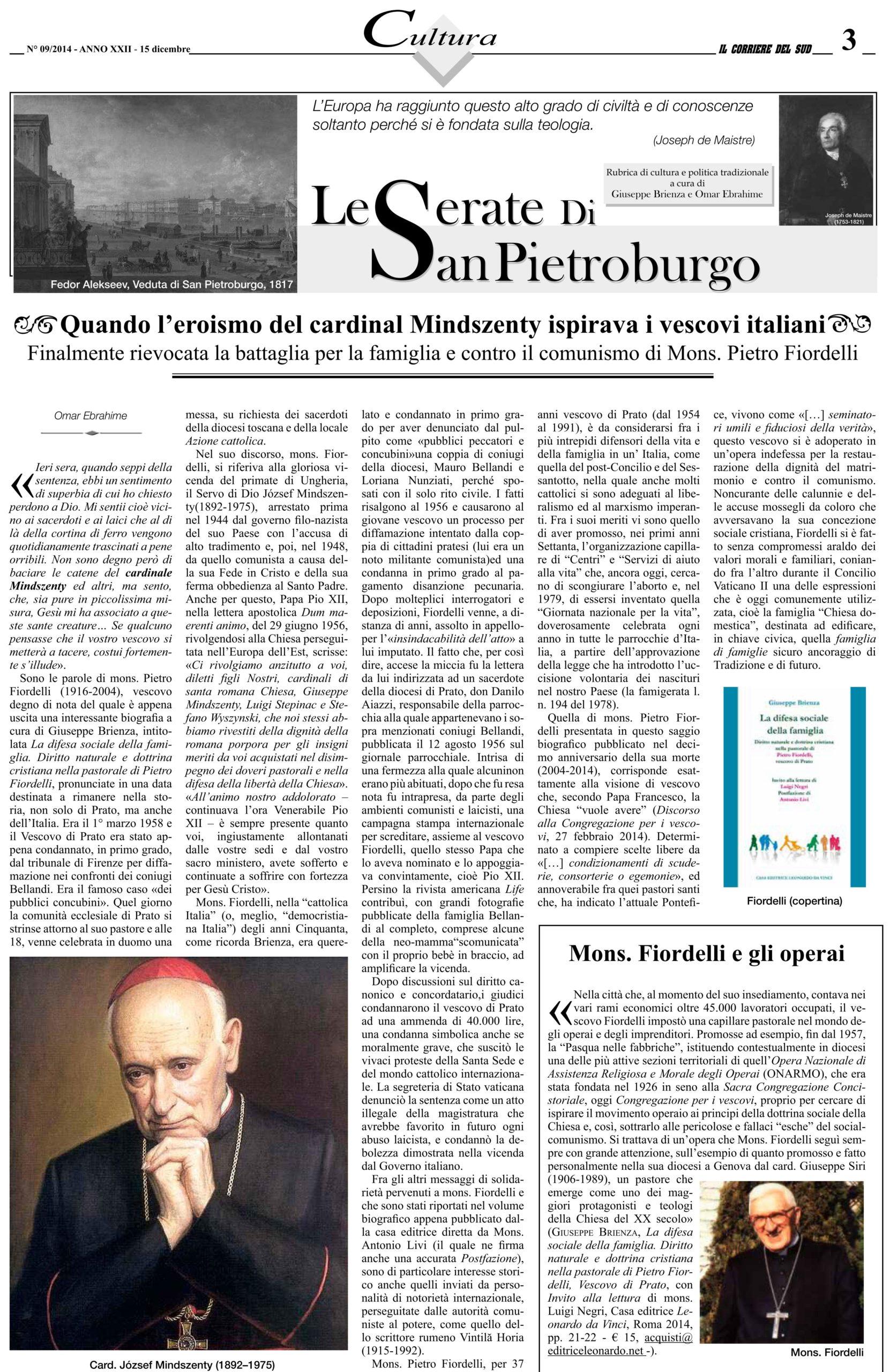 Quando l'eroismo del cardinal Mindszenty ispirava i vescovi italiani