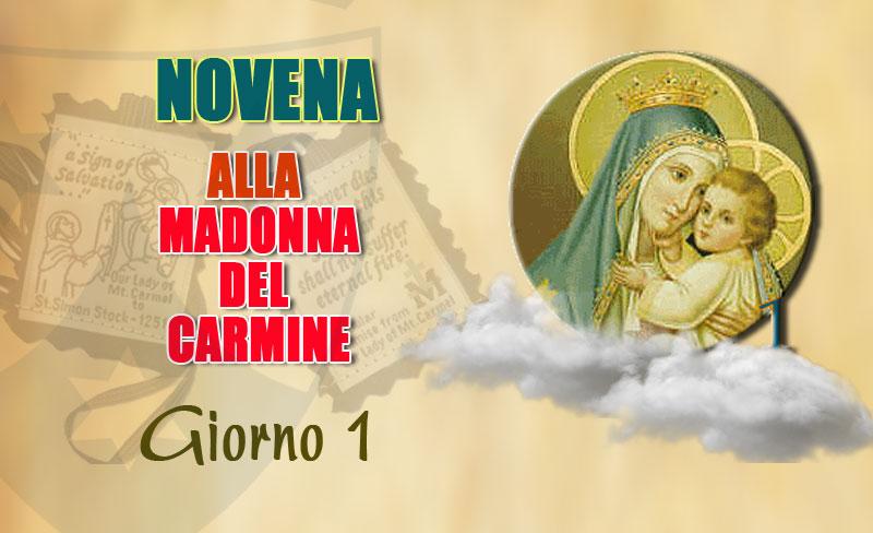 Novità. Primo giorno della novena alla Madonna del Carmelo (7 luglio)