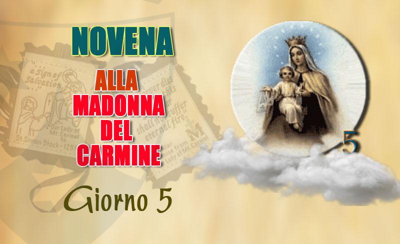 Quinto giorno della novena alla Madonna del Carmelo (11 luglio)