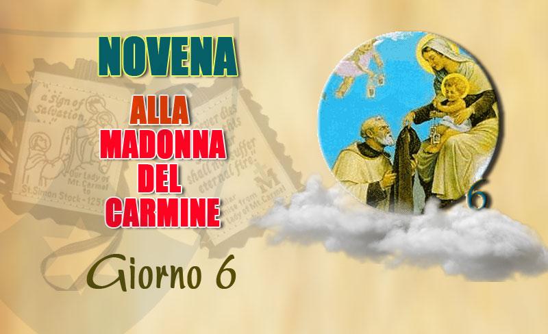 Sesto giorno della novena alla Madonna del Carmelo (12 luglio)