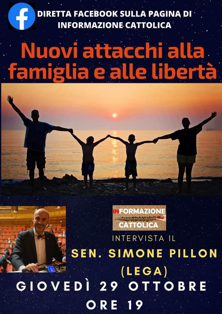 Alle 19 Simone Pillon in diretta sulla pagina Facebook di Informazione Cattolica