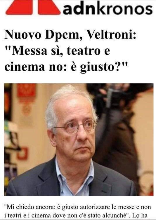 Caro Veltroni studia! Lo Stato italiano non ha il potere di sospendere le messe
